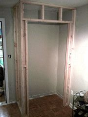 building a closet when there is no closet
