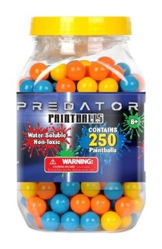 Tech Group Predator 250 count Refill Pack by Tech Group. $19.95. From the Manufacturer                Predator paintball refill pack for all Predator, SupaSplat and BlowBlaster shooters. This 250 count package of mixed color paintballs are water soluble and non-toxic.                                    Product Description                Features Includes 250 count refill paintballs for Predator, SupaSplat and BlowBlaster shooters Paintball colors vary Paintballs are w...