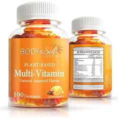 Vegetarian Daily Multivitamin Gummies for Adults  Natural Chewable Antioxidant Support  Body  Sol 100 ct -- You can find more details by visiting the image link. (This is an affiliate link and I receive a commission for the sales)