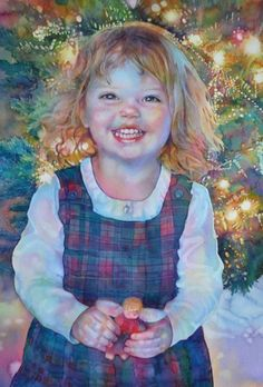 A precious, happy little girl at Christmas. Gorgeous. JEANNIE VODDEN