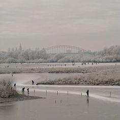Skaters near Nijmegen