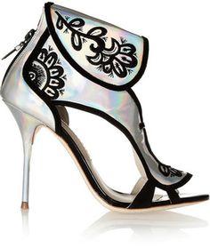 01e13594b897de Sophia Webster  Leoni  Holographic leather sandals
