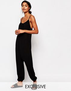 Nocozo+Relaxed+Jumpsuit+With+Rouched+Neck