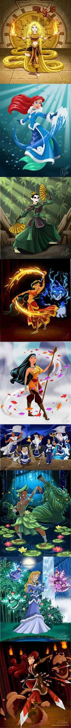 Disney, Avatar the Last Airbender crossover Walt Disney, Cute Disney, Disney Girls, Disney Magic, Disney Art, Disney Stuff, Funny Disney, Images Disney, Disney Pictures