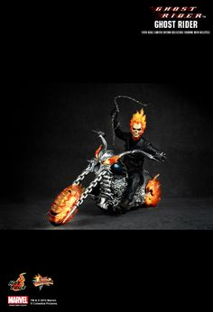 Hot Toys Hottoys Ghost Rider with Hellcycle Ghost Rider 1 6 MMS133 | eBay