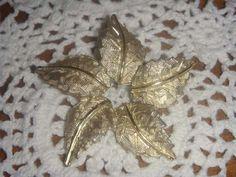 Vintage gold 5 leaf brooch by PaganCellarJewelry on Etsy, $9.99