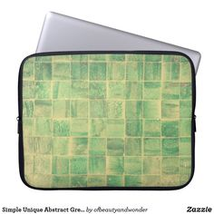 Choose from a variety of Unique laptop sleeves or make your own! Shop now for custom laptop sleeves & more! Green Tiles, Custom Laptop, Best Laptops, Personalized Products, Laptop Sleeves, Abstract, Simple, Unique, Gifts