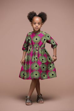 AFRICAN PRINT GONOS KID'S DRESS