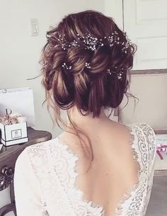 Best Wedding Hairstyle With Mid Length Hair Elegant Wedding Hair, Short Wedding Hair, Wedding Hair And Makeup, Trendy Wedding, Luxury Wedding, Wedding Gifts, Unique Wedding Hairstyles, Pretty Hairstyles, Teenage Hairstyles