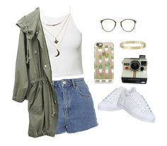 """Outfit #7"" by ancara on Polyvore featuring NLY Trend, Topshop, Charlotte Russe, adidas, Frency & Mercury, Polaroid and Casetify"