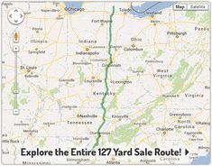 View the complete 127 Yard Sale route using our interactive Google ...
