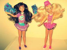 90s Skipper Barbie Cheerleader - I had the purple one.