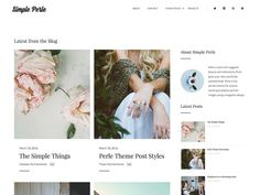 With a name that proposes excellence and refinement, Simple Perle gives your site a consummately cleaned look. Simple to setup, this topic gives you a chance to show your three...