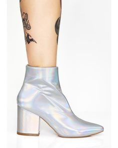 742af367493f Pixel Don t Play Patent Boots  dollskill  stars  moon  holiday  sparkle   simmer  hologram  patent  booties