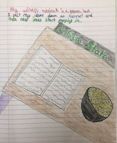 "One of four student metaphor ""winners"" from our 2015 writer's notebook metaphor contest!  This one came from Collin, one of Ms. Gruenhagen's students, a great writing teacher from Michigan. Click image to see the assignment and learn about our annual notebook metaphor contest!"