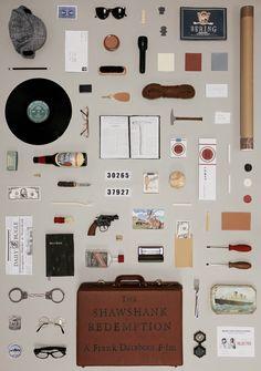 『ティファニーで朝食を』から『ショーシャンクの空に』『アメリ』『ムーンライズ・キングダム』『her』『キャロル』まで。映画に登場する部屋や小道具を再現したポスターシリーズを紹介。