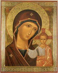 Mother of God, orthodox icon Religious Images, Religious Icons, Religious Art, Byzantine Icons, Byzantine Art, Russian Icons, Holy Mary, Madonna And Child, Art Icon