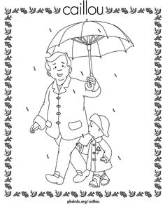 A coloring page with Caillou and his Granpa! Print this Caillou coloring page and then use your imagination to color in the picture! Online Coloring Pages, Coloring Pages To Print, Colouring Pages, Printable Coloring Pages, Coloring Pages For Kids, Coloring Books, Caillou, Spider Coloring Page, Karate Party