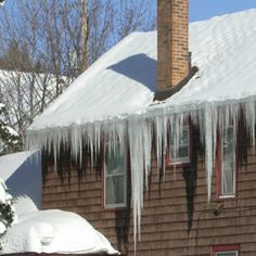 Has your home experienced costly damage due to ice dams this year? Do you even know what an ice dam is? Don't worry: we've got all the information you need to keep your home - and your budget - safe this winter. Ice Dams, Bob Vila, Roofing Systems, Home Repair, Home Improvement Projects, Building Design, Curb Appeal, Home Remodeling, Backyard
