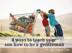 8 ways to teach your son how to be a gentleman