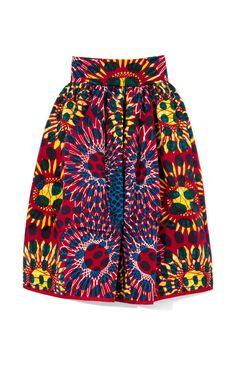 Printed Wax Cotton Full Skirt by Stella Jean - Moda Operandi