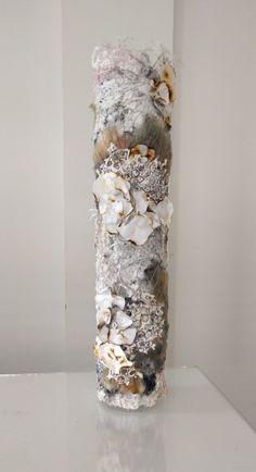 'Fungi on tree bark' Textile Sculpture, Sculpture Art, Vases, Close Up Art, A Level Textiles, Textiles Sketchbook, Creative Textiles, Tree Bark, Textile Artists