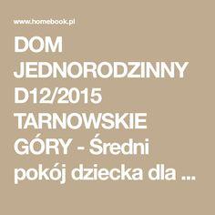 DOM JEDNORODZINNY D12/2015 TARNOWSKIE GÓRY - Średni pokój dziecka dla chłopca dla dziewczynki dla ucznia dla nastolatka, styl nowoczesny - zdjęcie od A2 STUDIO pracownia architektury