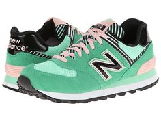 New Balance Classics WL574 Palm Springs - Green Pink - Zappos.com Free Shipping BOTH Ways