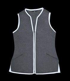 MO-VEST, Silver Grey – Vespertine NYC Garment District, Puffer Jackets, Athletic Tank Tops, Vest, Nyc, Grey, Silver, How To Wear, Women