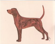 I am looking for a good silhouette of a hound to get a tattoo of, this is one idea