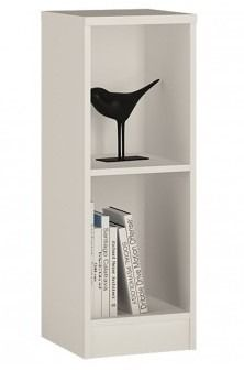 4 You Low Narrow Bookcase In Pearl White - With an adjustable shelf, this low standing bookcase is perfect for the storage and display of much more than just your book collection. Ornaments, treasured photographs, DVD's and compact discs are all equally at home here. If you have children that enjoy creating and crafting, why not have them displayed proudly here? After all, it's not always easy to display clay candle holders with a fridge magnet!
