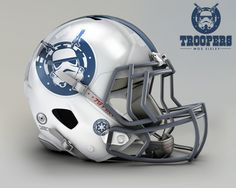 When #StarWars meets #NFL #Football Helmets it can be a glorious thing!