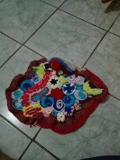 Alfombra multi color crochet