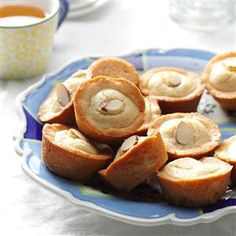 "Almond Tea Cakes Recipe -Previous pinner stated ""I keep busy with our baby daughter and helping my dad on his dairy farm. But when I have time-usually in the winter-I love to bake. I make these tea cakes every Christmas. I double the recipe and freeze half for later."""