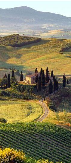 Villa I Pini near the medieval town of San Gimignano in Tuscany, Italy.