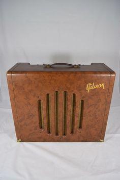 Vintage 1950's Gibson GA-75 Jazz Guitar Tube Amplifier Brown Rare Amp