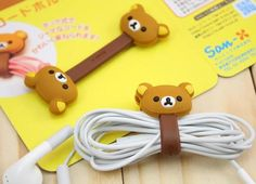 Animal Cable Ties Flexible Cute Rilakkuma Bear Cable Winder for iPhone, iPod - Special Offer
