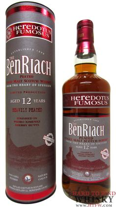 8.2 - Benriach Heredotus Fumosus (Heavily Peated) Sherry Cask 12 years…