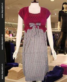 Đầm bầu công sở Mắt biếc #DamBau #DoDungChoMeTruocSinh