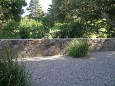 Dry stack stone wall