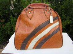 Vintage Bowling Bag Leather like look by TheGypsyChixCompany, $24.00