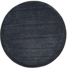 Handloom - Mörkblå matta  Ø250