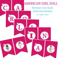 American girl doll party Custom Banner