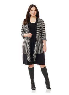 Catherines Plus Size Streetlight Jacket Dress, Women's, Size: 0X, Gray