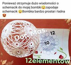 wera's media content and analytics. Crochet Lamp, Crochet Tree, Christmas Tree Baubles, Crochet Christmas Ornaments, Christmas Crochet Patterns, Crochet Snowflakes, Handmade Ornaments, Crochet Motif, Crochet Doll Dress
