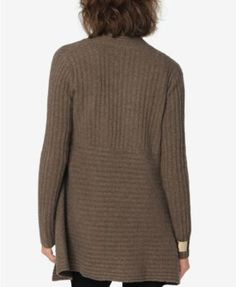 Autumn Cashmere Maternity Open-Front Cardigan - Driftwood L