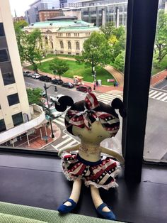 """""""Betsy"""" in front of the Historical Society of Washington DC. The buildings are so clean!"""
