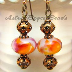 Vivaciously Koi Earrings  Handcrafted Lampwork by AstridBoyceBeads, $12.00