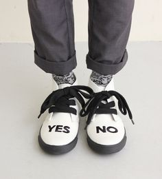 YES NO shoes by I am I