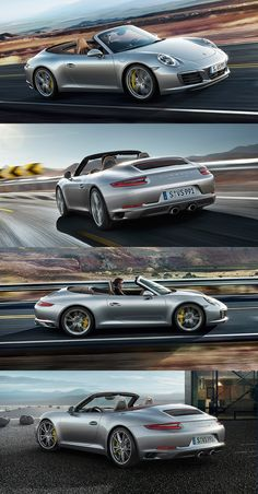 The new Porsche 911 Carrera S Cabriolet. For civilised cruising on the coastal road, but also for some sporty corner chasing in the mountains.  *Fuel consumption in accordance with EU 6: 911 Carrera 2 models: Combined: 8.8-7.4 l/100 km (32.1-38.2 mpg); CO2 emissions: 202-169 g/km.